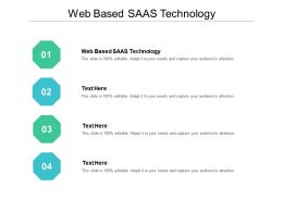 Web Based SAAS Technology Ppt Powerpoint Presentation Pictures Cpb