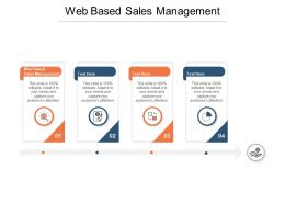 Web Based Sales Management Ppt Powerpoint Presentation Deck Cpb