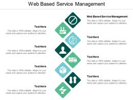 Web Based Service Management Ppt Powerpoint Presentation Visual Aids Diagrams Cpb