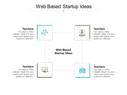 Web Based Startup Ideas Ppt Powerpoint Presentation Show Layouts Cpb