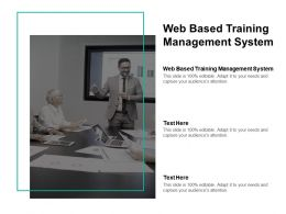 Web Based Training Management System Ppt Powerpoint Presentation Professional Cpb