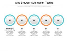 Web Browser Automation Testing Ppt Powerpoint Presentation Styles Microsoft Cpb