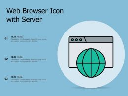 Web Browser Icon With Server