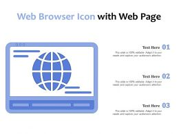 Web Browser Icon With Web Page