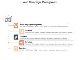 Web Campaign Management Ppt Powerpoint Presentation Visual Aids Model Cpb
