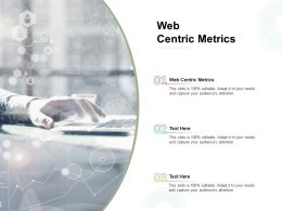 Web Centric Metrics Ppt Powerpoint Presentation Infographics Show Cpb