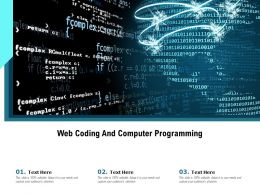 Web Coding And Computer Programming