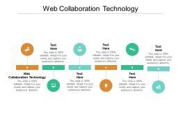 Web Collaboration Technology Ppt Powerpoint Presentation Portfolio Visuals Cpb