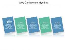 Web Conference Meeting Ppt Powerpoint Presentation Infographics Good Cpb