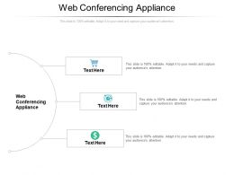 Web Conferencing Appliance Ppt Powerpoint Presentation Inspiration Background Designs Cpb