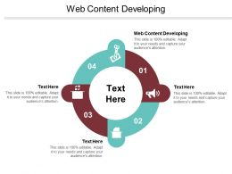 Web Content Developing Ppt Powerpoint Presentation Pictures Model Cpb