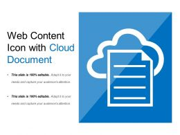Web Content Icon With Cloud Document