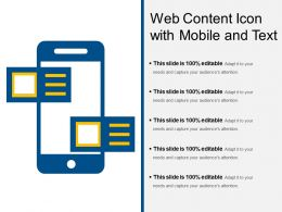Web Content Icon With Mobile And Text