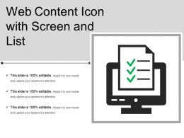 Web Content Icon With Screen And List