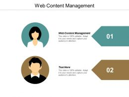 Web Content Management Ppt Powerpoint Presentation Infographic Template File Formats Cpb
