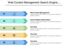 Web Content Management Search Engine Optimization Content Personalization