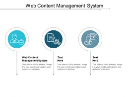 Web Content Management System Ppt Powerpoint Presentation Gallery Display Cpb