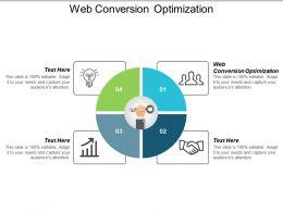 Web Conversion Optimization Ppt Powerpoint Presentation Slides Background Image Cpb