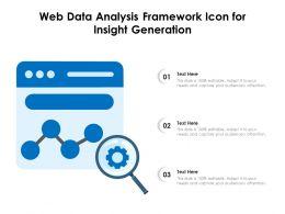 Web Data Analysis Framework Icon For Insight Generation