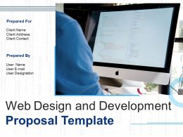 Web Design And Development Proposal Template Powerpoint Presentation Slides