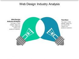 Web Design Industry Analysis Ppt Powerpoint Presentation Icon Gridlines Cpb