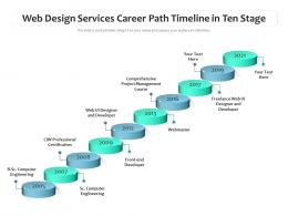 Web Design Services Career Path Timeline In Ten Stage