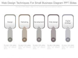 Web Design Techniques For Small Business Diagram Ppt Slides