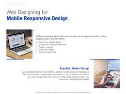 Web Designing For Mobile Responsive Design Ppt Powerpoint Presentation Inspiration