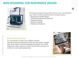 Web Designing For Responsive Design Ppt Powerpoint Presentation Styles