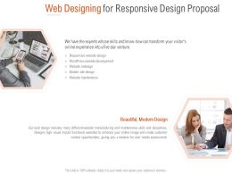Web Designing For Responsive Design Proposal Ppt Powerpoint Shapes