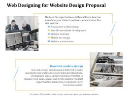 Web Designing For Website Design Proposal Ppt Powerpoint Presentation Gallery Grid