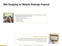Web Designing For Website Redesign Proposal Ppt Powerpoint Presentation Summary
