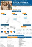 Web Designing Project Presentation One Pager Presentation Report Infographic PPT PDF Document