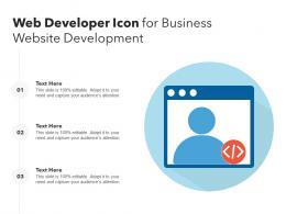 Web Developer Icon For Business Website Development