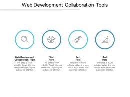 Web Development Collaboration Tools Ppt Powerpoint Presentation Styles Design Cpb