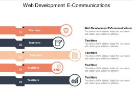Web Development E Communications Ppt Powerpoint Presentation Slides Aids Cpb