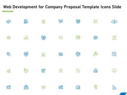 Web Development For Company Proposal Template Icons Slide Ppt Powerpoint File