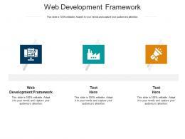 Web Development Framework Ppt Powerpoint Presentation Icon Aids Cpb