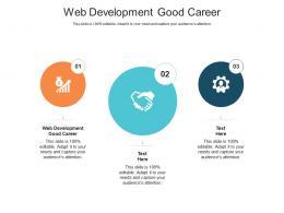 Web Development Good Career Ppt Powerpoint Presentation Slides Good Cpb