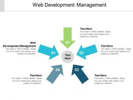 Web Development Management Ppt Powerpoint Presentation Slides Background Designs Cpb