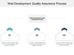 Web Development Quality Assurance Process Ppt Powerpoint Presentation Model Styles Cpb