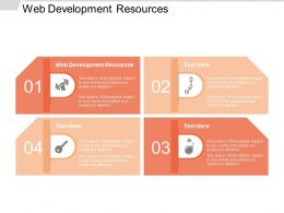 Web Development Resources Ppt Powerpoint Presentation Icon Images Cpb