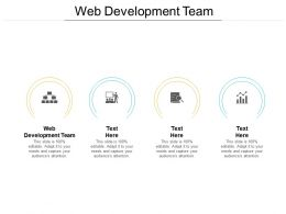 Web Development Team Ppt Powerpoint Presentation Visual Aids Diagrams Cpb