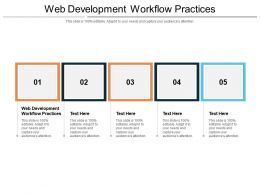Web Development Workflow Practices Ppt Powerpoint Presentation Model Example Introduction Cpb