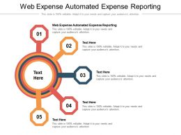 Web Expense Automated Expense Reporting Ppt Powerpoint Presentation Layouts Show Cpb