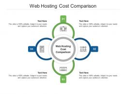 Web Hosting Cost Comparison Ppt Powerpoint Presentation Styles Infographics Cpb