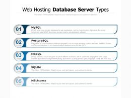Web Hosting Database Server Types