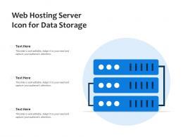 Web Hosting Server Icon For Data Storage