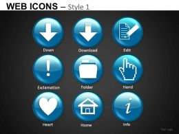 Web Icons Style 1 Powerpoint Presentation Slides DB