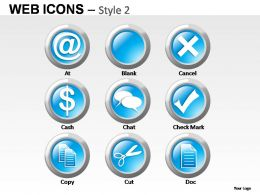 Web Icons Style 2 Powerpoint Presentation Slides